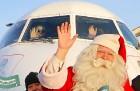 Ar somu lidsabiedsabiedrības «Finnair» lidmašīnu 5.12.2017 Rīgā ielido Ziemassvētku vecītis no Lapzemes 15