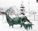 Ventspils «Lemberga hūtē» bauda sniegu, bet gaida salu, lai tas varētu noturēties 23
