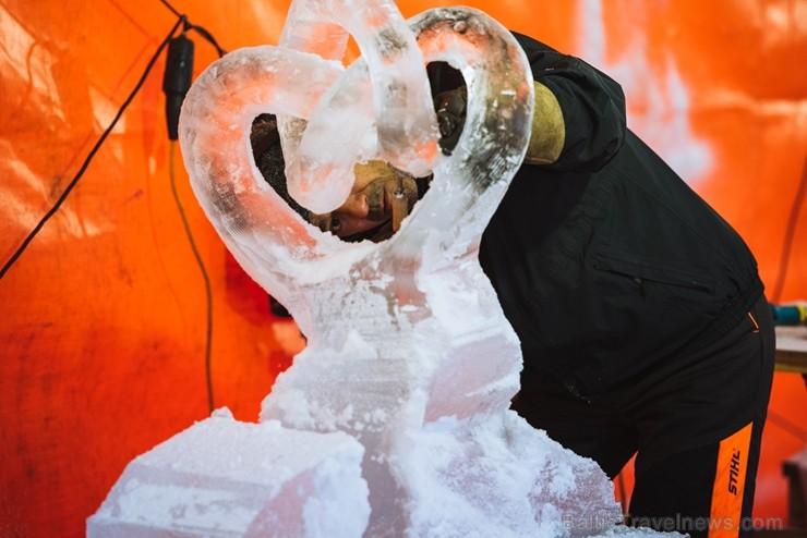 Jelgavā tapušas pirmās 30 ledus skulptūras