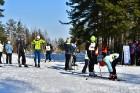 Jēkabpilī norisinās «Ziemīšu jampadrača» stundas slēpojums 3