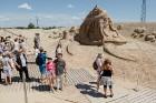 Jelgavā  aizvadīts jau 12. Starptautiskais smilšu skulptūru festivāls 13