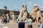 Jelgavā  aizvadīts jau 12. Starptautiskais smilšu skulptūru festivāls 14