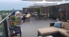 Pārdaugavas viesnīca «Bellevue Park Hotel Riga» atklāj restorāna «Le Sommet» jumta terasi ar burvīgu Rīgas skatu. Foto: Samsung Galaxy Note8 2