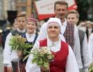 Dziesmu un deju svētku atklāšanas gājiens pulcē Rīgā visus Latvijas novadus (601-700) 100