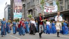 Dziesmu un deju svētku atklāšanas gājiens pulcē Rīgā visus Latvijas novadus (701-800) 24