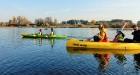 Rudenīgā laivu braucienā pa Sauso Daugavu tika apskatīti abi krasti Ķekavas un Salaspils novados. 10