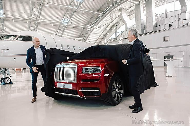 Rīgā 19.10.2018 tiek prezentēts pirmais «Rolls-Royce» zīmola apvidus vāģis «Rolls-Royce Cullinan». Foto: rolls-roycemotorcars.com