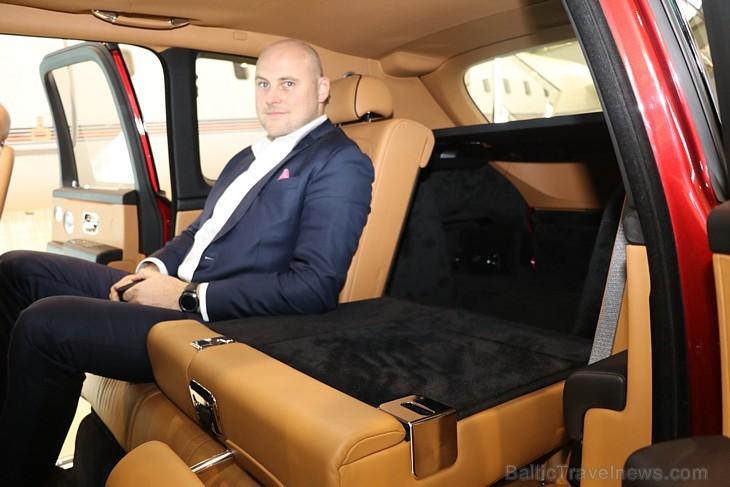 Rīgā 19.10.2018 tiek prezentēts pirmais «Rolls-Royce» zīmola apvidus vāģis «Rolls-Royce Cullinan»
