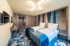 «Wellton Riverside SPA Hotel» četrzvaigžņu Superior viesnīca piedāvās 222 komfortablus numuriņus, izsmalcinātu ēdināšanu un lielāko Spa kompleksu Vecr 7