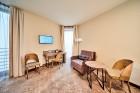 «Wellton Riverside SPA Hotel» četrzvaigžņu Superior viesnīca piedāvās 222 komfortablus numuriņus, izsmalcinātu ēdināšanu un lielāko Spa kompleksu Vecr 51
