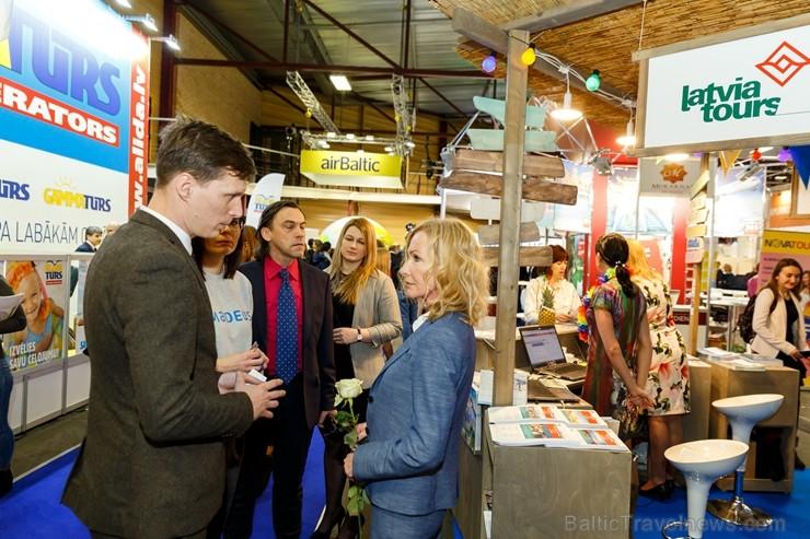 BALTTOUR.LV: Ekonomikas ministrs Ralfs Nemiro piedalās tūrismā izstādē «Balttour 2019». Vairāk foto: Tn.lv/foto/