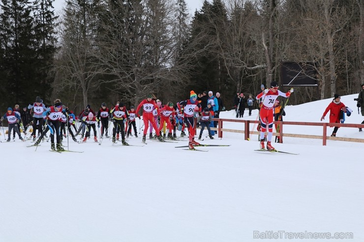 Latvijas biatlona izlases līdera Andreja Rastorgujeva dzimtajā trasē Alūksnes novada ziemas sporta centrā