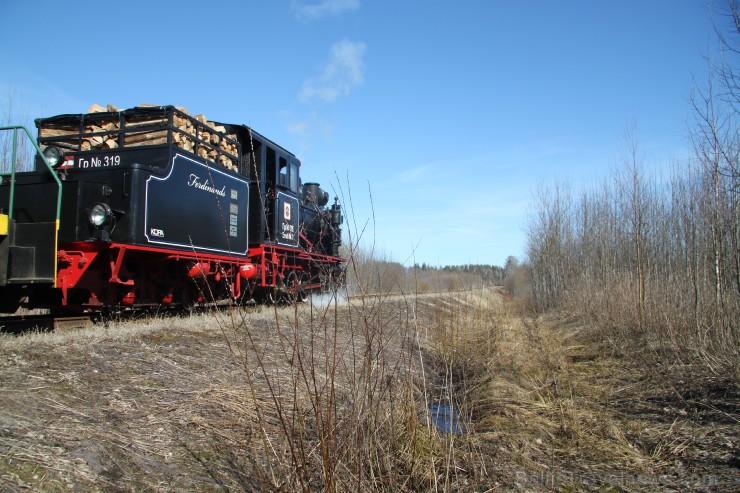 Bānitis ir vienīgais regulāri kursējošais šaursliežu vilciens Baltijas valstīs.