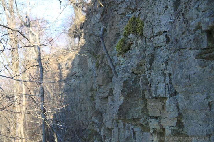 Blakus ūdenskritumam uzlietās kāpnes soli pa solim izved cauri visiem miljonu gadu slāņiem ...