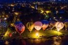 Festivāla laikā virs Kuldīgas krāšņi pacēlās vairākas gaisa balonu ekipāžas un priecēja kuplo apmeklētaju pulku 1