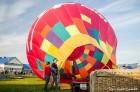 Festivāla laikā virs Kuldīgas krāšņi pacēlās vairākas gaisa balonu ekipāžas un priecēja kuplo apmeklētaju pulku 11