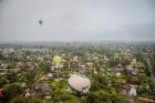 Visu Siguldas pilsētas svētku garumā siguldieši un pilsētas viesi baudīja krāšņu mākoņu kuģu rīta un vakara lidojumus 9