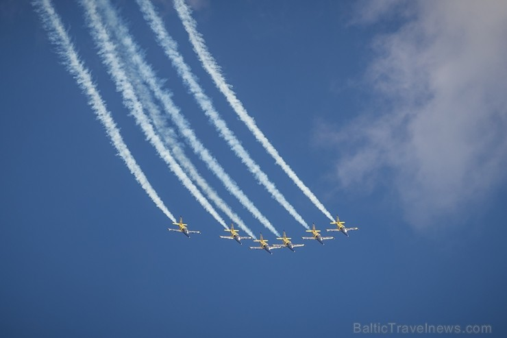 Aviācijas bāzē Lielvārdē 8.06.2019. norisinājās aviācijas paraugdemonstrējumi, kas veltīti Gaisa spēku simtgadei