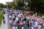 Ar dažādām aktivitātēm, krāšņām koncertprogrammām un gājienu Rēzeknē svinēja pilsētas svētkus 40