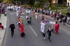 Ar dažādām aktivitātēm, krāšņām koncertprogrammām un gājienu Rēzeknē svinēja pilsētas svētkus 45