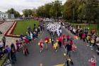Ar dažādām aktivitātēm, krāšņām koncertprogrammām un gājienu Rēzeknē svinēja pilsētas svētkus 50