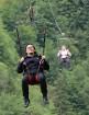 Travelnews.lv Gruzijas kūrortā Sairme izbauda 500 metru braucienu ar zipline 9