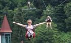 Travelnews.lv Gruzijas kūrortā Sairme izbauda 500 metru braucienu ar zipline 32