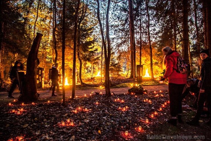 Vienkoču parkā norisinājās Uguns Nakts, kura mērķis ir vienu īso rudens dienu padarīt ilgāk gaišu, dot iespēju uzlādēt sevi ar sveču gaismu un siltumu