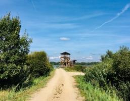 Skatu tornis Durbes ezera krastā