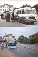 Autobusu pietura pie Majoru stacijas. 20. gs. 50.– 60. gadi un mūsdienas 3