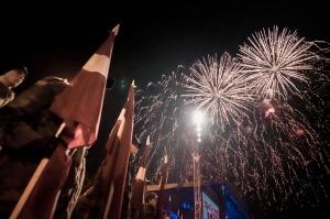 Tūkstošiem liepājnieku un Liepājas viesu atzīmē Latvijas Neatkarības proklamēšanas 101. gadadienu 44