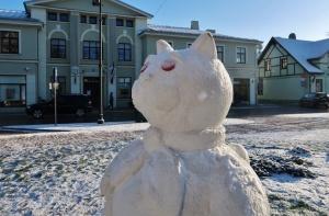 Cauri deviņām Latvijas kaprīzajām ziemām Dobeles dižie sniegavīri ir veiksmīgi atnākuši līdz savam desmitajam saietam 9