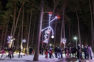 Jau trešo gadu Jūrmalā, Dzintaru mežaparkā, iemirdzējušās gaismas skulptūras un dekori, veidoti no tūkstošiem LED lampiņu virtenēm 2