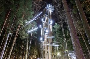 Jau trešo gadu Jūrmalā, Dzintaru mežaparkā, iemirdzējušās gaismas skulptūras un dekori, veidoti no tūkstošiem LED lampiņu virtenēm 7