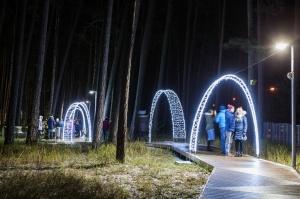 Jau trešo gadu Jūrmalā, Dzintaru mežaparkā, iemirdzējušās gaismas skulptūras un dekori, veidoti no tūkstošiem LED lampiņu virtenēm 8
