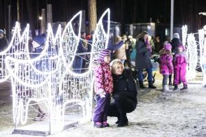 Jau trešo gadu Jūrmalā, Dzintaru mežaparkā, iemirdzējušās gaismas skulptūras un dekori, veidoti no tūkstošiem LED lampiņu virtenēm 14
