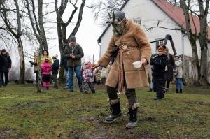 Turaidas muzejrezervātā lustīgi svin latviešu gadskārtu svētkus – Meteņus, iezīmējot zemnieku jaunā gada sākumu un simboliski metot gadskārtu metus uz 31