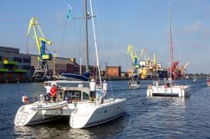 Ventspilī uz «Gulf of Riga Regatta 2020» buru parādi ierodas vairāk nekā 50 jahtas 45