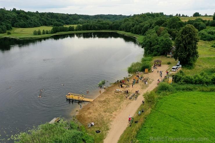 Velobraucējiem Krāslavā atklāts jauns pierobežas velomaršruts «Krāslava – Piedruja» 286802