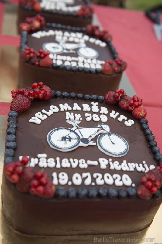 Velobraucējiem Krāslavā atklāts jauns pierobežas velomaršruts «Krāslava – Piedruja» 286807