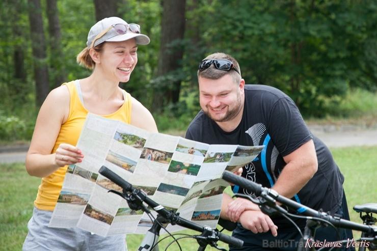 Velobraucējiem Krāslavā atklāts jauns pierobežas velomaršruts «Krāslava – Piedruja» 286810