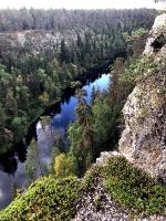 Lai arī Ristikallio klintis atrodas prom no pamata takas, liekie 12km  ir tā vērti 23