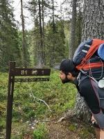 Atlicis vien kilometrs, bet kāds! Stāvs kāpums pa slēpošanas trases nogāzi. 54