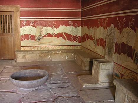 Viena no ievērojamākajām istabām ir karaļa Minos istaba.