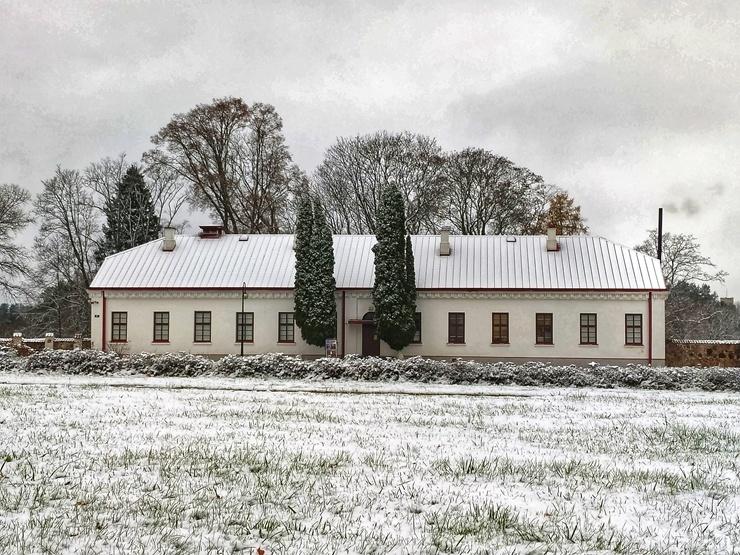Krāslava  ietinas baltā sniega rotā. Foto: Inga Pudnika 294577
