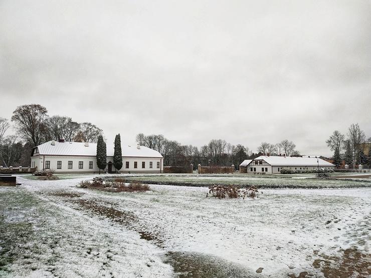 Krāslava  ietinas baltā sniega rotā. Foto: Inga Pudnika 294578