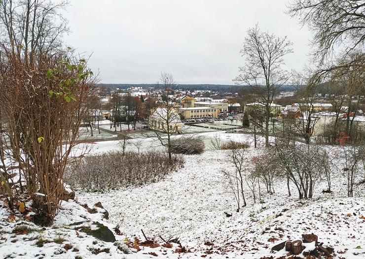 Krāslava  ietinas baltā sniega rotā. Foto: Inga Pudnika 294579