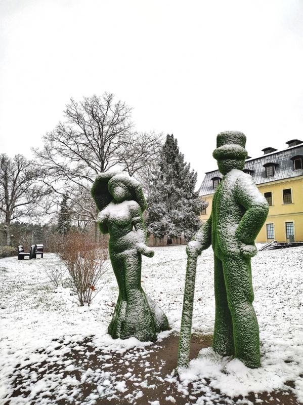 Krāslava  ietinas baltā sniega rotā. Foto: Inga Pudnika 294581
