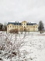 Krāslava  ietinas baltā sniega rotā. Foto: Inga Pudnika 4