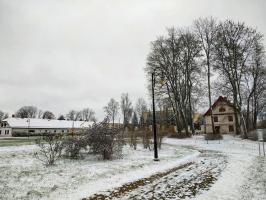 Krāslava  ietinas baltā sniega rotā. Foto: Inga Pudnika 8